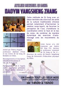 Qi Gong Bâton @ Chateau Catala | Saint-Orens-de-Gameville | Occitanie | France