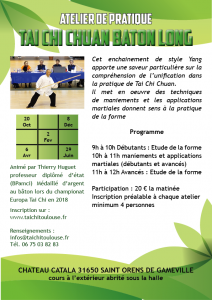 Tai Chi Chuan Bâton long @ Chateau Catala