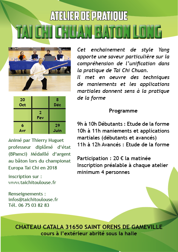 Atelier Tai Chi Chuan bâton long @ Chateau Catala