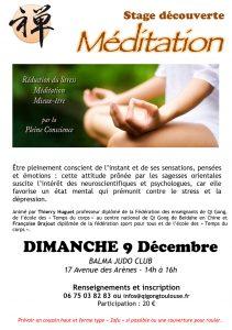 Stage découverte Méditation @ JUDO CLUB DE BALMA