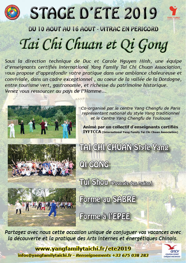 Stage d'été Tai Chi et Qi Gong @ Pech de Malet