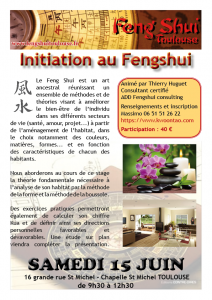 Initiation au Feng Shui @ Chapelle St Michel