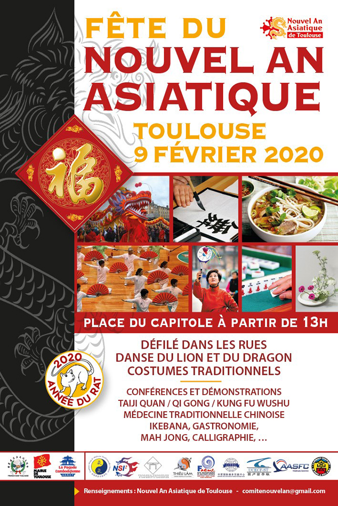 Nouvel an Asiatique Toulouse @ Place du Capitole