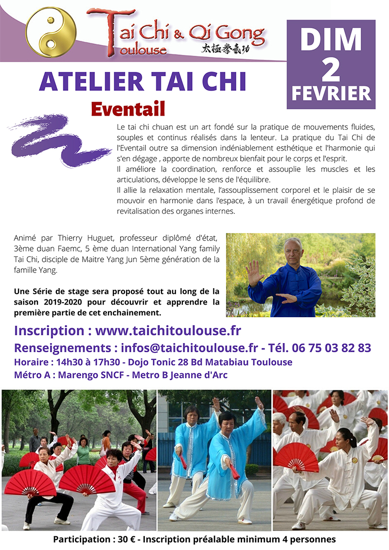 Atelier Tai Chi Eventail @ Dojo Tonic