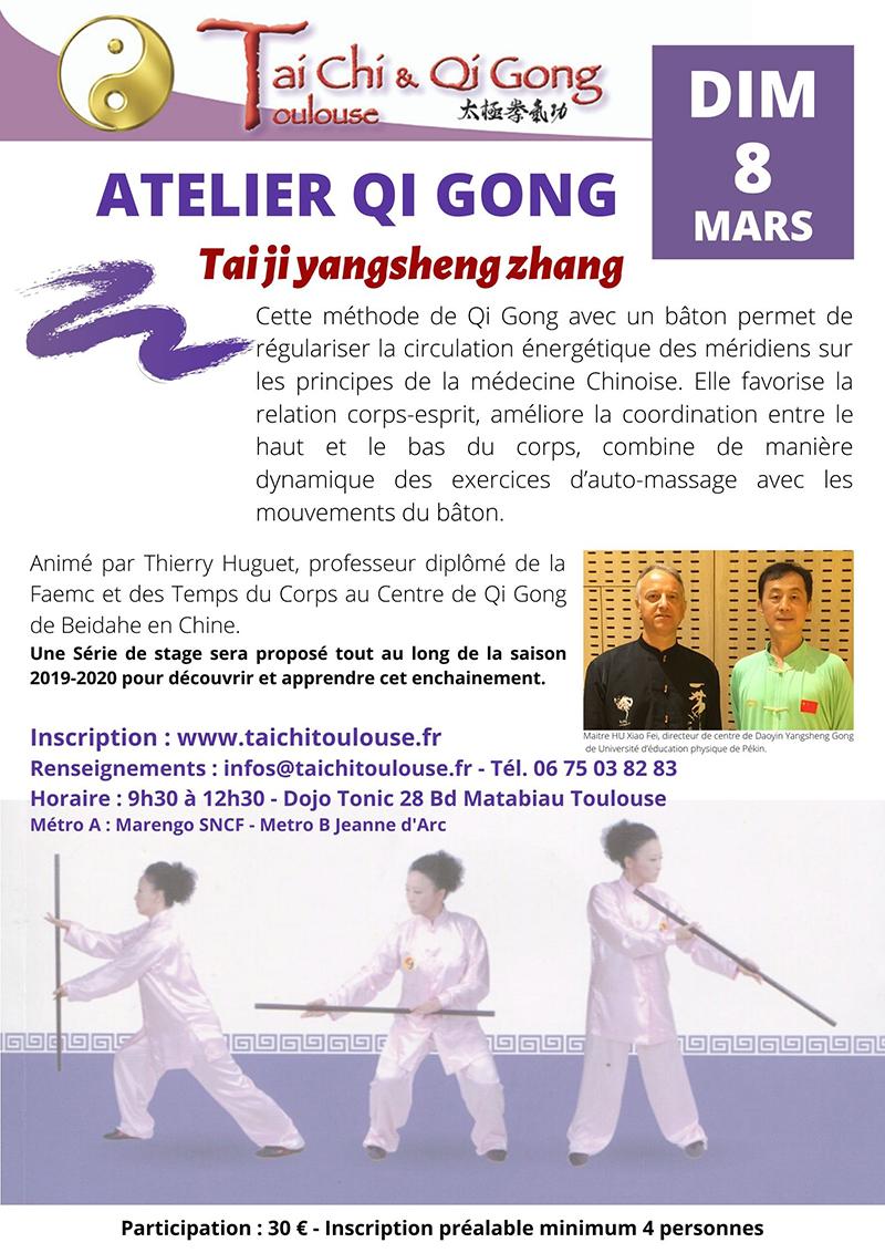 Stage de Qi Gong bâton @ Dojo Tonic
